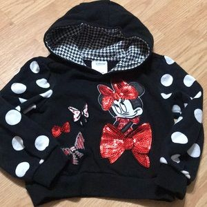 Disney Minnie Mouse Girls 3T hoodie